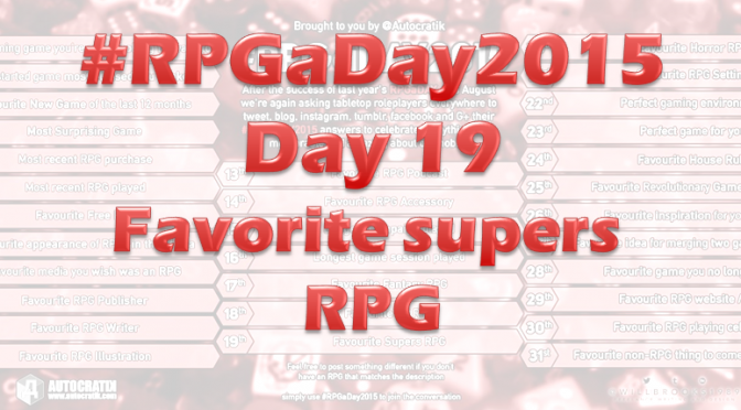 RPG a Day 2015 Challenge – Day 19