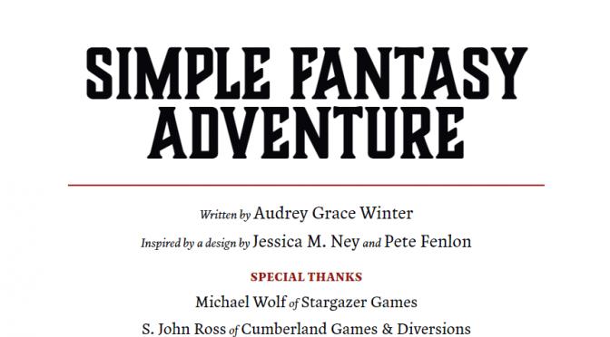 First Look: Simple Fantasy Adventure